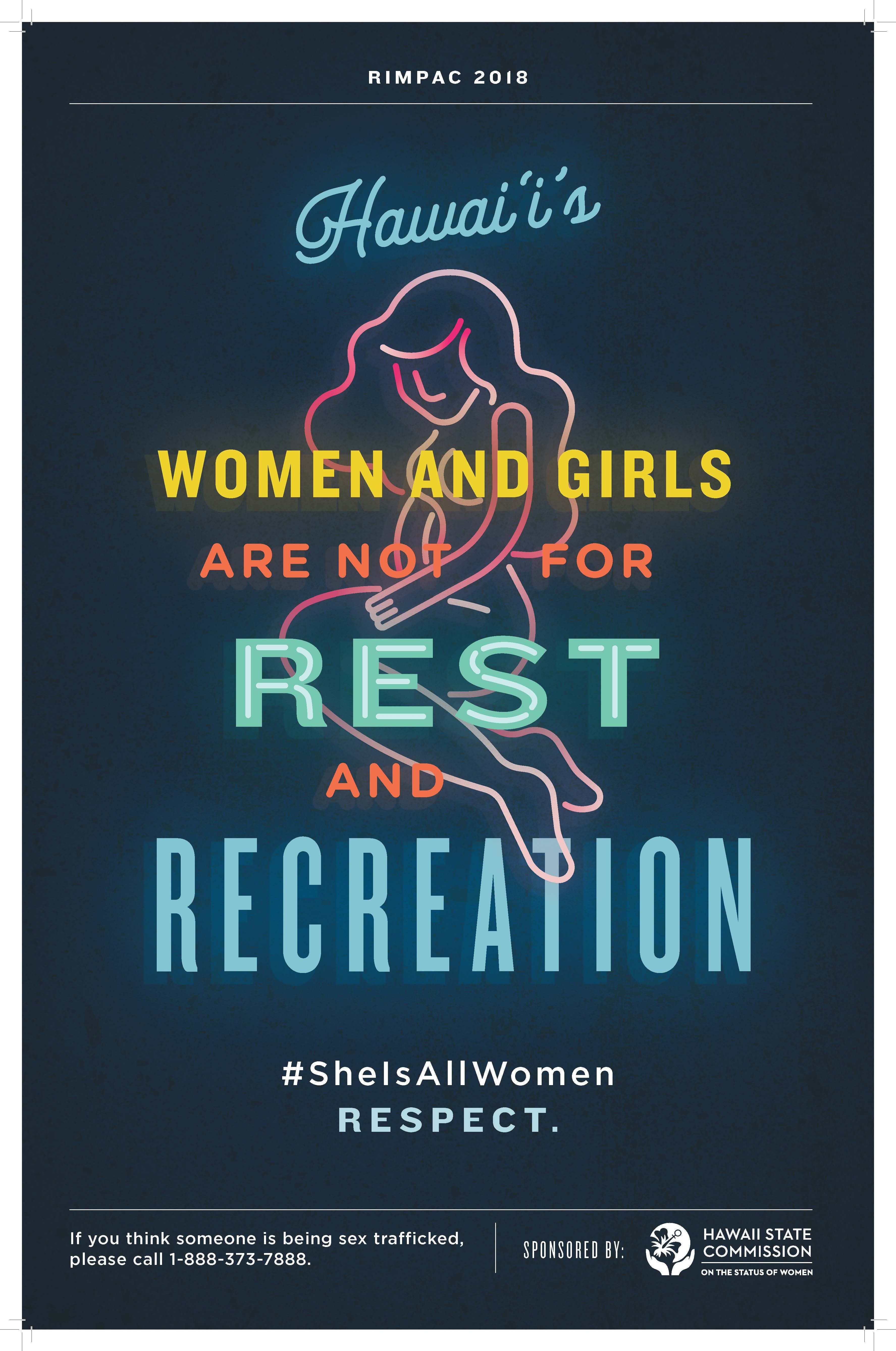 """""""She is All Women"""" campaign poster from the Hawaii State Commission on the Status of Women at the Department of Human Services"""